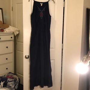 Old Navy Dresses - OLD NAVY navy blue tribal maxi